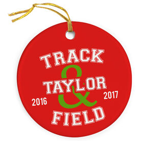 Track and Field Porcelain Ornament Track and Field Team
