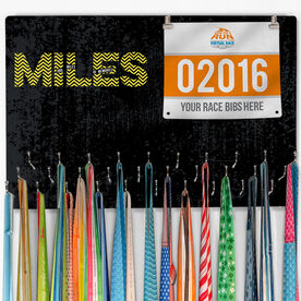 Hooked on Medals Bib & Medal Display Miles and Miles of Memories
