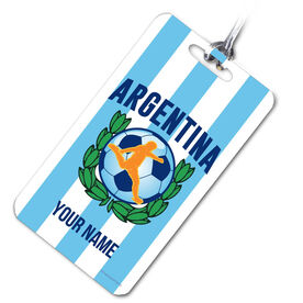 Soccer Bag/Luggage Tag Personalized Argentina Soccer