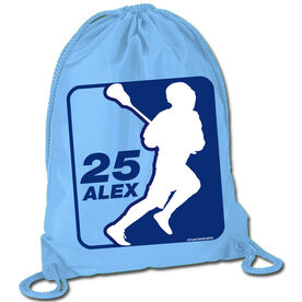Sport Pack Cinch Sack Personalized Lacrosse Silhouette
