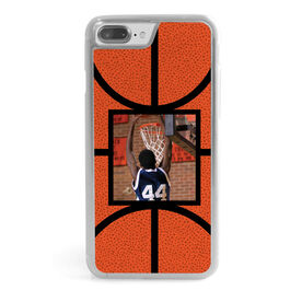 Basketball iPhone® Case - Basketball Texture Your Photo