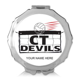 Custom Volleyball Logo Compact Mirror (Round)