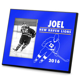 Hockey Personalized Photo Frame Hockey Player