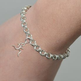 Choose Your Charm Sterling Silver Double Cable Link Bracelet
