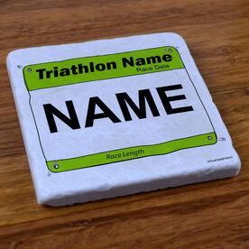 Custom Triathlon Bib - Stone Coaster