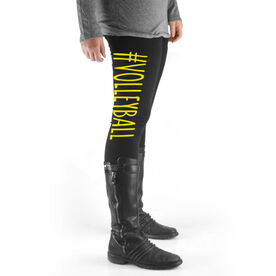 Volleyball High Print Leggings #Volleyball