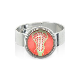 Lacrosse Stick Head Peach SportSNAPS Ring