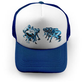Football Trucker Hat On The Line