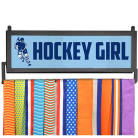 AthletesWALL Medal Display - Hockey Girl with Silhouette