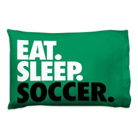 Soccer Pillowcase - Eat. Sleep. Soccer.