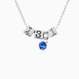 Sterling Silver 13.1 Half Marathon Beads and Swarovski Crystal Necklace