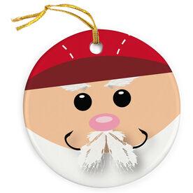 Fly Fishing Porcelain Ornament Gone Fishin Santa