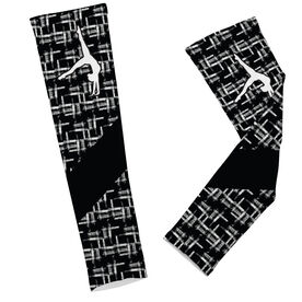 Gymnastics Printed Arm Sleeves Gymnastics Ink with Silhouette