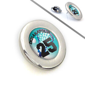 Lacrosse Lapel Pin Team Name and Number Sweet Pass