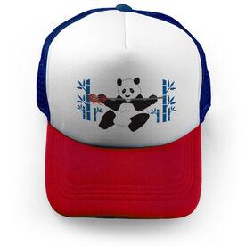 Guys Lacrosse Trucker Hat Panda Loves Lax