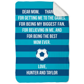 Soccer Sherpa Fleece Blanket - Dear Mom Heart