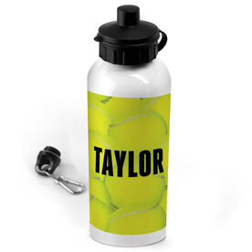 Tennis 20 oz. Stainless Steel Water Bottle Personalized Tennis Ball Background