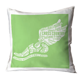 Cross Country Pillow Inspirational Words Winged Foot