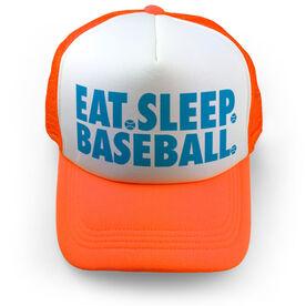 Baseball Trucker Hat - Eat Sleep Baseball