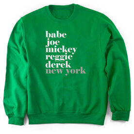 Baseball Crew Neck Sweatshirt - FANtastic Bronx New York