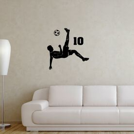 Personalized Bicycle Kick Removable ChalkTalkGraphix Wall Decal