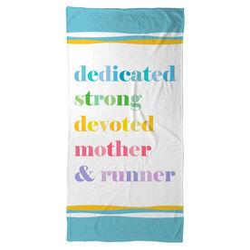 Running Beach Towel - Mantra Mother Runner