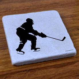 Hockey Player - Stone Coaster