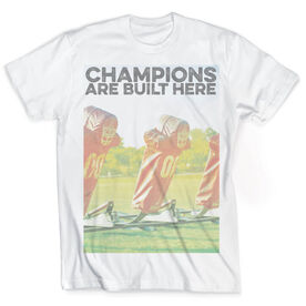 Vintage Football T-Shirt - Champions Are Built Here