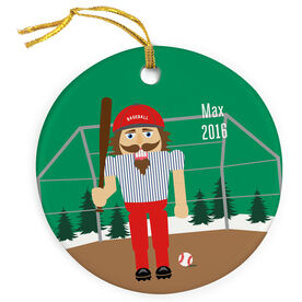 Baseball Porcelain Ornament Nutcracker