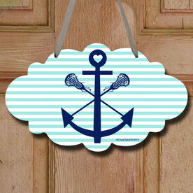 Lacrosse Sticks Anchor Decorative Cloud Sign