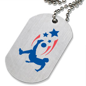 Soccer Spirit (Male) Printed Dog Tag Necklace