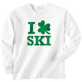 Skiing Tshirt Long Sleeve I Shamrock Ski