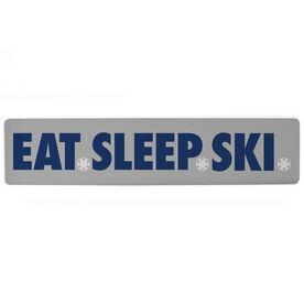 """Skiing Aluminum Room Sign Eat Sleep Ski (4""""x18"""")"""