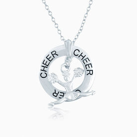 Cheer Ring and Cheerleader Charm Necklace