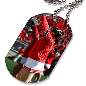 Custom Cheer Photo Printed Dog Tag Necklace