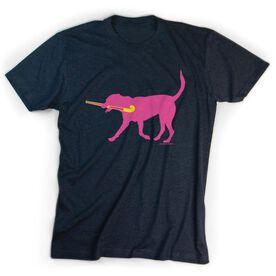Field Hockey Tshirt Short Sleeve Fetch the Field Hockey Dog