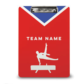 Gymnastics Custom Clipboard Team Name Male