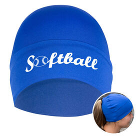 Performance Ponytail Cuff Hat Softball with Ball