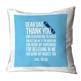 Snowboarding Pillow Dear Dad