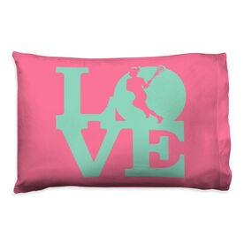 Girls Lacrosse Pillowcase - Love Lacrosse Girl