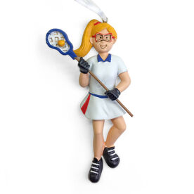 CTS - Lacrosse Player Resin Figure Ornament (Blonde Female)