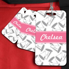 Cheer Bag/Luggage Tag Personalized Megaphone Pattern