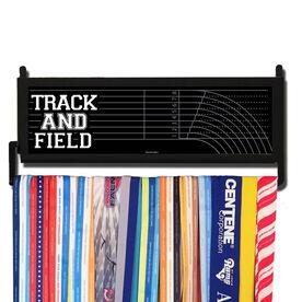 RunnersWALL Track & Field Lanes Medal Display