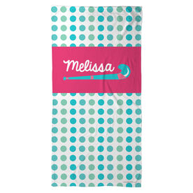 Field Hockey Beach Towel Personalized Sticks with Dots