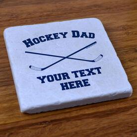 Crossed Sticks Hockey Dad - Stone Coaster
