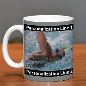 Swimming Ceramic Mug Custom Photo with Color