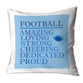 Football Throw Pillow - Mother Words