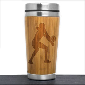 Bamboo Travel Tumbler Volleyball Player