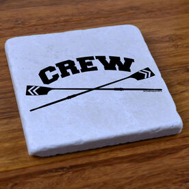 Crew Crossed Oars - Stone Coaster