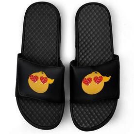 Volleyball Black Slide Sandals - Heart Eyes